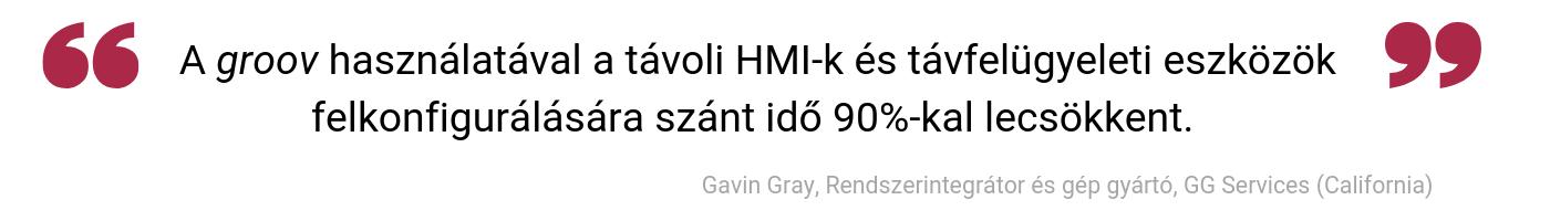 A groov használatával a távoli HMI-k és távfelügyeleti eszközök felkonfigurálására szánt idő 90-kal lecsökkent.